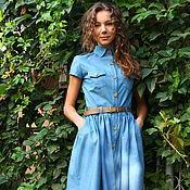 Одежда handmade. Livemaster - original item Denim dress. Handmade.