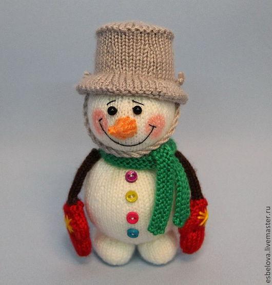 """Обучающие материалы ручной работы. Ярмарка Мастеров - ручная работа. Купить Мастер-класс по вязанию """"Снеговик"""" (спицы). Handmade."""