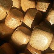 Материалы для творчества ручной работы. Ярмарка Мастеров - ручная работа можжевеловые кубики без лака. Handmade.
