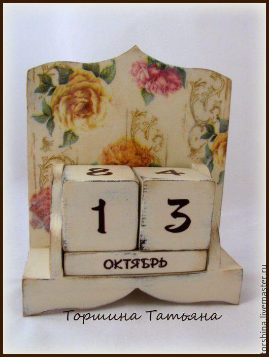 Календари ручной работы. Ярмарка Мастеров - ручная работа. Купить Вечный календарь Розы. Handmade. Вечный календарь, подарок женщине