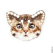 Украшения handmade. Livemaster - original item Brooch-cat. Handmade.