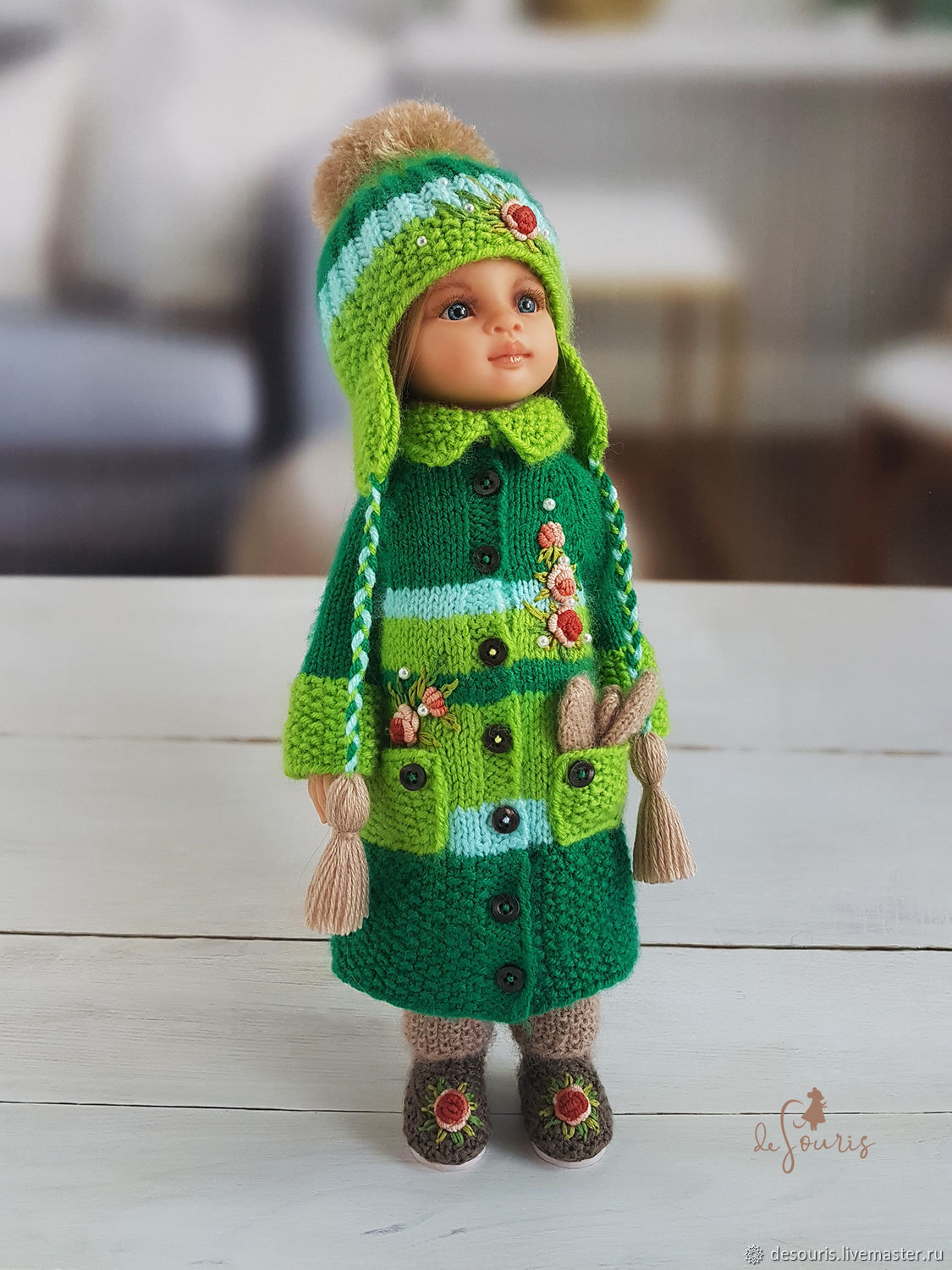 Clothes for Paola Reina dolls. Warm green set, Clothes for dolls, Voronezh,  Фото №1