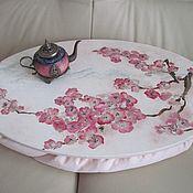 """Для дома и интерьера ручной работы. Ярмарка Мастеров - ручная работа Чайный столик """"Весна в Японии"""". Handmade."""
