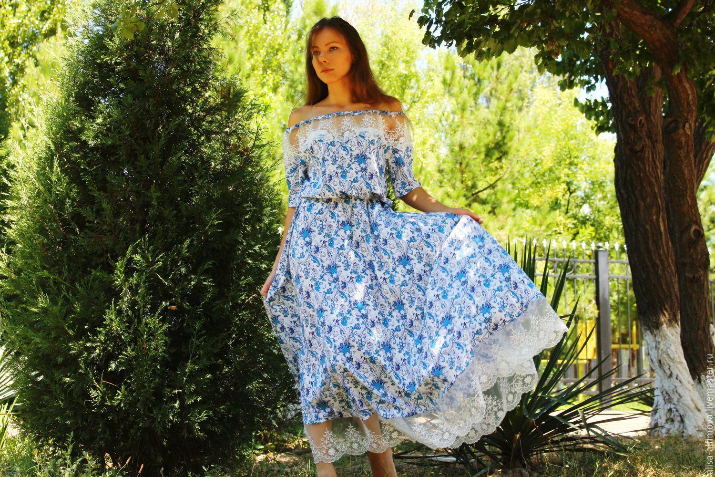 0ee05312d9925f5 Платья ручной работы. Ярмарка Мастеров - ручная работа. Купить Стильное  летнее платье 'ЛИКА ...