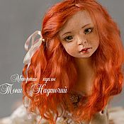 Куклы и игрушки ручной работы. Ярмарка Мастеров - ручная работа Авторская подвижная кукла Маруся. Handmade.