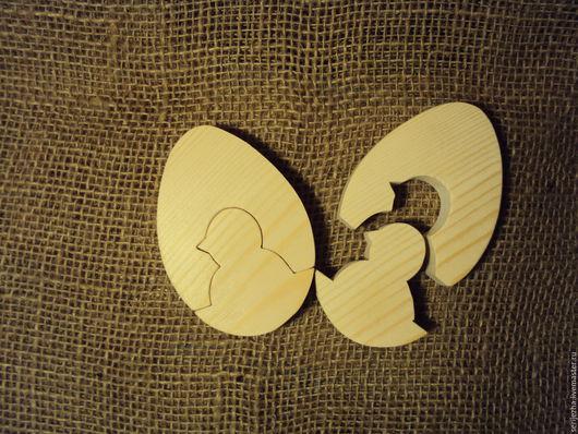 Цыплёнок в яйце пазл, деревянная игрушка ручной работы.