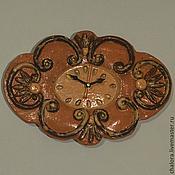 Для дома и интерьера ручной работы. Ярмарка Мастеров - ручная работа Настенные часы в стиле барокко керамика. Handmade.
