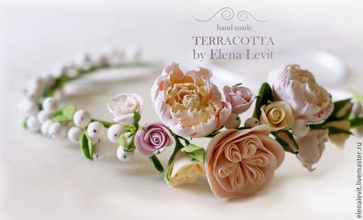 Венок на голову из полимерной глины. Terracotta by Elena Levit.