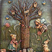 """Картины и панно ручной работы. Ярмарка Мастеров - ручная работа """"Преддверие"""" (папье-маше, дерево). Handmade."""