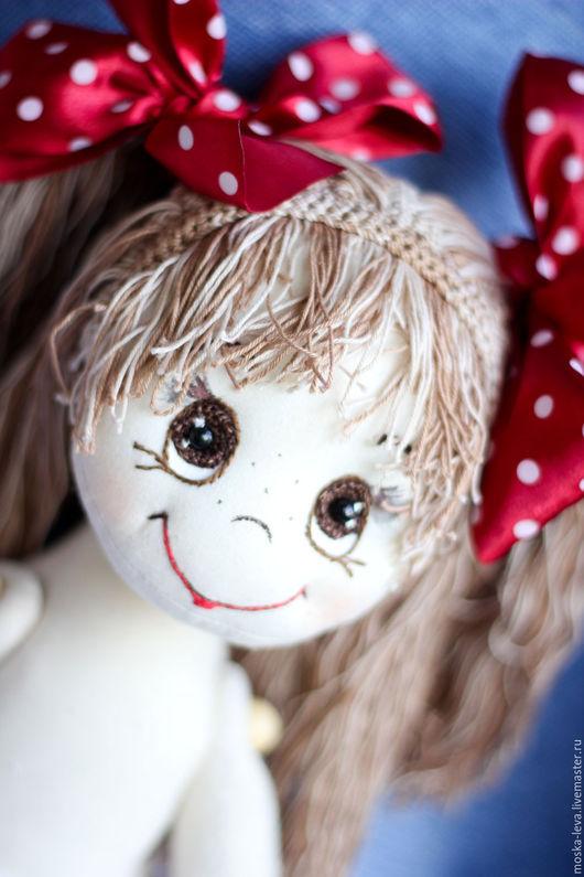 Человечки ручной работы. Ярмарка Мастеров - ручная работа. Купить Кукла Настёна. Handmade. Бежевый, кукла интерьерная, шарнирные куклы