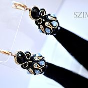 Украшения handmade. Livemaster - original item Soutache earrings tassels Classic. Handmade.