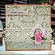 Открытки для женщин, ручной работы. Ярмарка Мастеров - ручная работа. Купить Нежная открыточка With Love  .... Handmade. открытка для женщины
