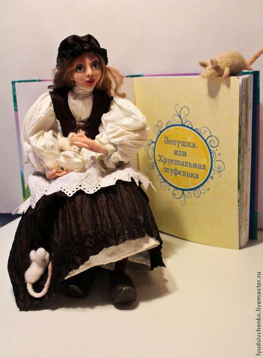 Коллекционные куклы ручной работы. Ярмарка Мастеров - ручная работа. Купить Золушка. Handmade. Разноцветный, сказочный персонаж, паппье-маше