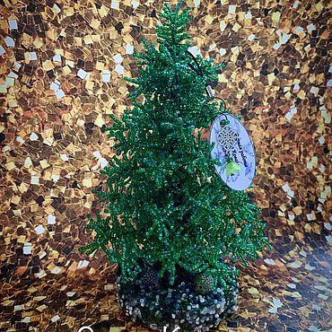 Цветы и флористика ручной работы. Ярмарка Мастеров - ручная работа Елочка из бисера. Handmade.