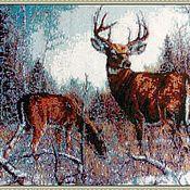 Картины и панно handmade. Livemaster - original item tapestry: Tapestry beaded DEER. Handmade.