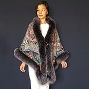 handmade. Livemaster - original item Winter shawl