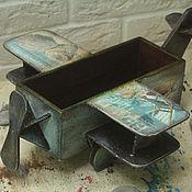 Для дома и интерьера handmade. Livemaster - original item An airplane candy-box, marine collection. Handmade.