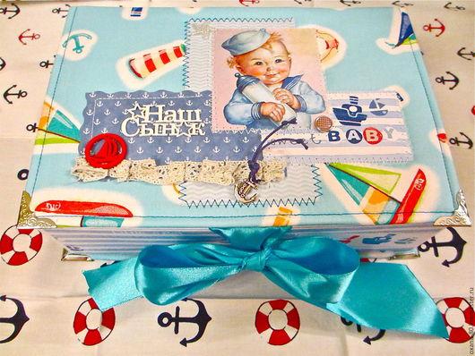 Подарки для новорожденных, ручной работы. Ярмарка Мастеров - ручная работа. Купить Мамины сокровища. Handmade. Голубой, подарок малышу, морячок