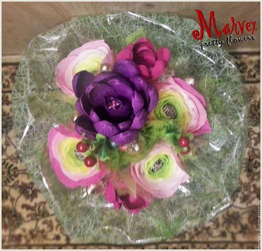 Букеты ручной работы. Ярмарка Мастеров - ручная работа. Купить Букет из конфет. Handmade. Бледно-розовый, розовый, белый