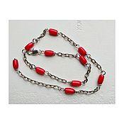 handmade. Livemaster - original item Coral Foot Bracelet. Handmade.