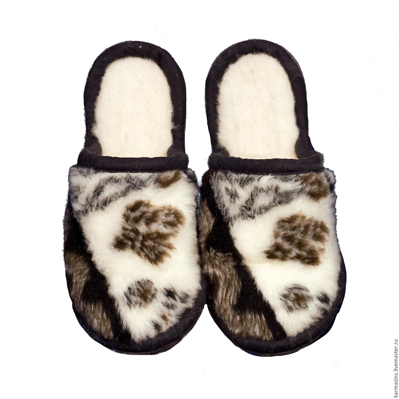 cdc4b1a632a8 Обувь ручной работы. Ярмарка Мастеров - ручная работа. Купить Шлёпанцы НОРД  из мериноса.