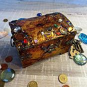 Сувениры и подарки handmade. Livemaster - original item Piggy Bank for money,the treasures of the seas,the Treasury chest. Handmade.