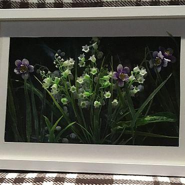 Картины и панно ручной работы. Ярмарка Мастеров - ручная работа Фотокартины: Ландыши и фиалки. Handmade.