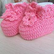 """Работы для детей, ручной работы. Ярмарка Мастеров - ручная работа Пинетки """"Розовые мечты"""". Handmade."""