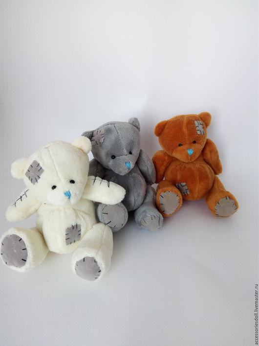 Мишки Тедди ручной работы. Ярмарка Мастеров - ручная работа. Купить ПРОДАНЫ Мишка для кукол. Handmade. Комбинированный, аксессуары, подарок