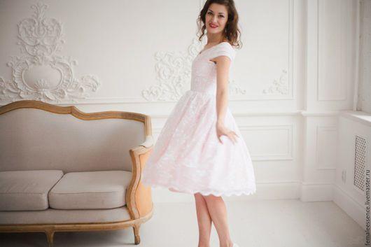Платья ручной работы. Ярмарка Мастеров - ручная работа. Купить Ретро платье в стиле 50-ых на выпускной. Handmade.