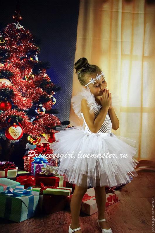 новогодние костюмы для детей пышные юбки для девочек костюм льдинки костюм снежинки танцевальные костюмы для детей  нарядное белое платье