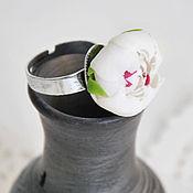 """Украшения ручной работы. Ярмарка Мастеров - ручная работа Кольцо """"Белый пион"""". Handmade."""