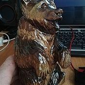 Игрушки ручной работы. Ярмарка Мастеров - ручная работа Игрушки: Статуэтка: поющий медведь. Handmade.