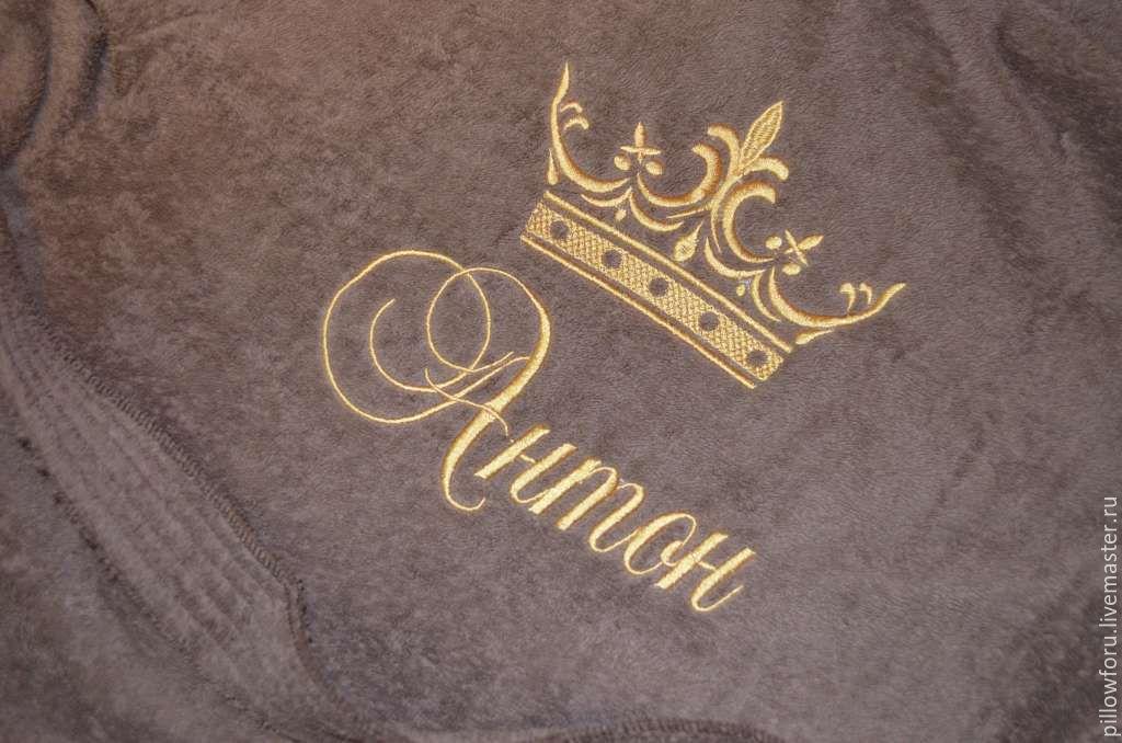 Корона вышивка на халате