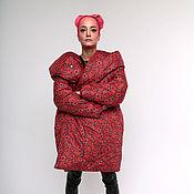 Одежда handmade. Livemaster - original item Down jacket cocoon (blanket)