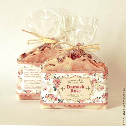 """Мыло ручной работы. Ярмарка Мастеров - ручная работа. Купить """"Дамасская Роза"""" - абсолютно натуральное люксовое мыло. Handmade. Розовый"""