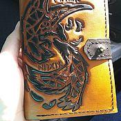 Сумки и аксессуары handmade. Livemaster - original item Men`s leather purse Hugin and Munin. Handmade.