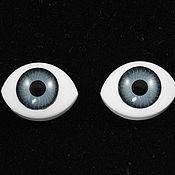 """Фурнитура для кукол и игрушек ручной работы. Ярмарка Мастеров - ручная работа 7х9мм Глаза кукольные (серые) 2шт. """"5623"""". Handmade."""