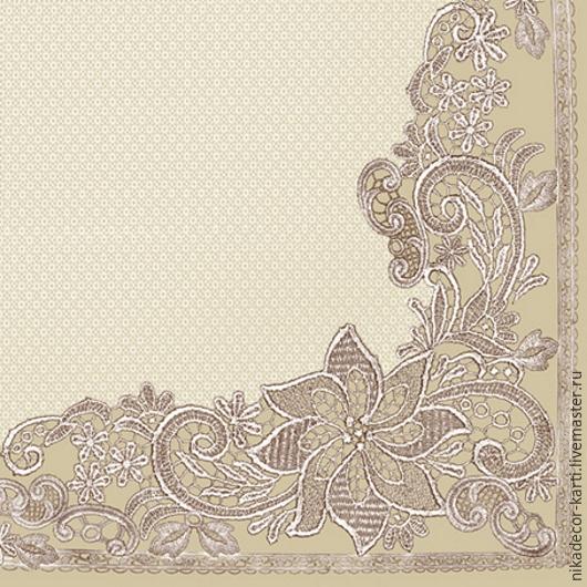 Декупаж и роспись ручной работы. Ярмарка Мастеров - ручная работа. Купить Вышивка на сером (SLOG021903) - салфетка для декупажа. Handmade. Разноцветный