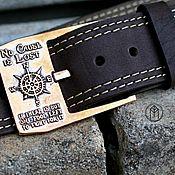 handmade. Livemaster - original item Leather belt with cast buckle