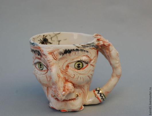 """Кружки и чашки ручной работы. Ярмарка Мастеров - ручная работа. Купить """"Баба Яга"""" скульптурная кружка.. Handmade. Разноцветный"""