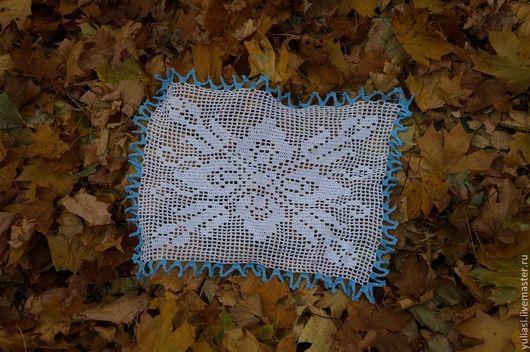 Текстиль, ковры ручной работы. Ярмарка Мастеров - ручная работа. Купить Ажурная салфетка ( филейное вязание). Handmade. крючком