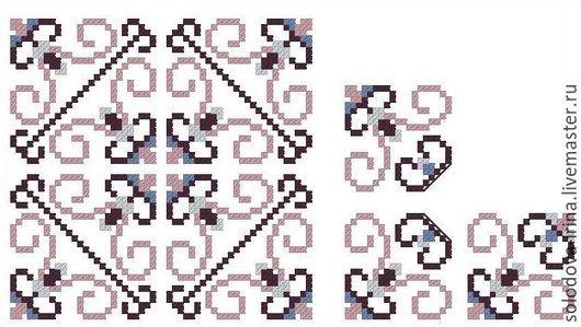 """Вышивка ручной работы. Ярмарка Мастеров - ручная работа. Купить Схемы комплекта миниатюр """"Готический узор"""". Handmade. Схема для вышивки"""
