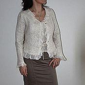 """Одежда ручной работы. Ярмарка Мастеров - ручная работа Жакет """"Cream pearls"""". Handmade."""