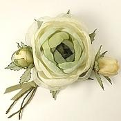 Украшения handmade. Livemaster - original item Winter Bouquet Fairy Forest. the brooch with the colors of the fabrics. Handmade.