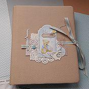 Фотоальбомы ручной работы. Ярмарка Мастеров - ручная работа Альбом для новорожденного мальчика. Handmade.