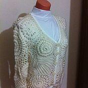 Одежда ручной работы. Ярмарка Мастеров - ручная работа Кофта вязаная ирландское кружево. Handmade.