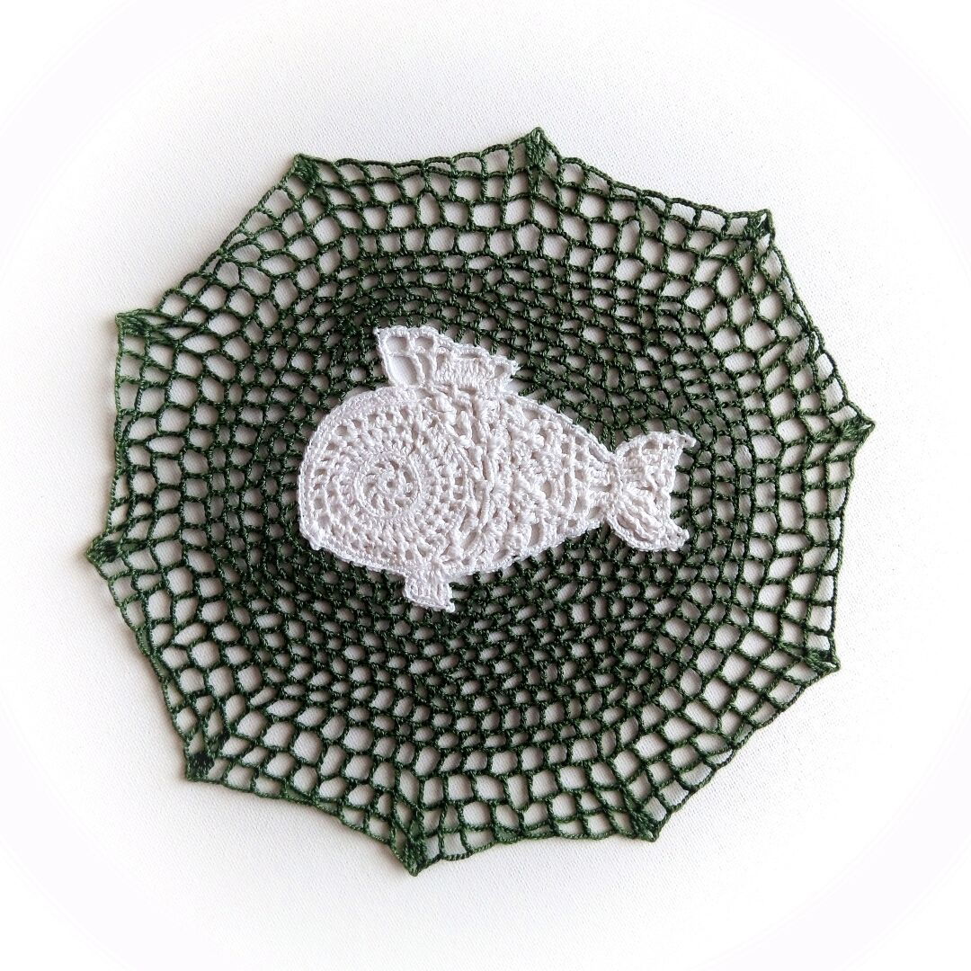 Cloth crocheted ' white fish', Doilies, St. Petersburg,  Фото №1