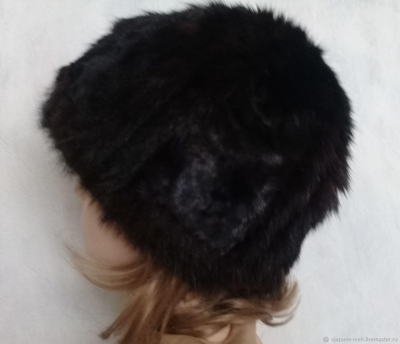 вязаный мех зимняя меховая шапка норковая женская шапка купить в