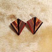 Украшения handmade. Livemaster - original item Wooden earrings small earrings summer boho earrings. Handmade.
